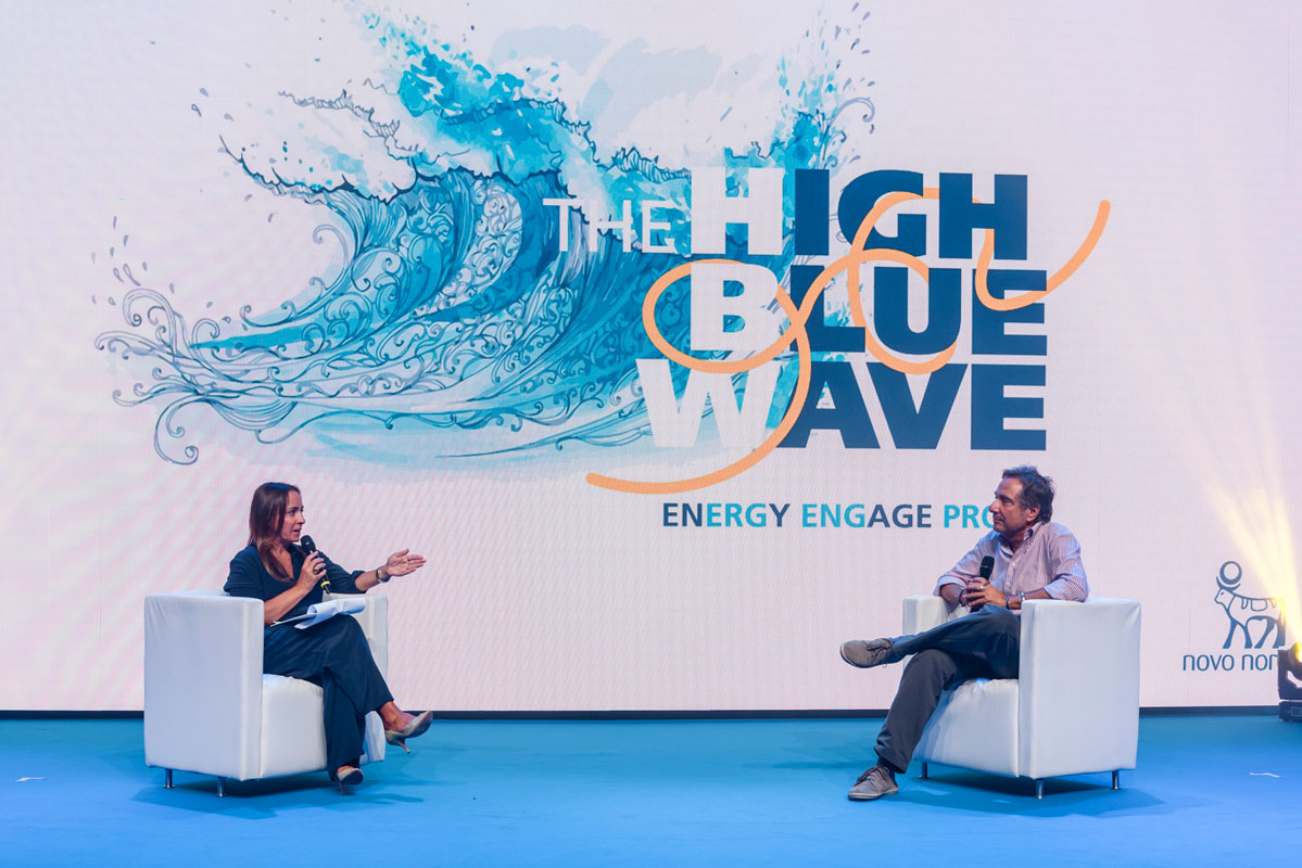 The Line Above and Below The Blue High Wave 24